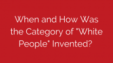 what-and-how-was-the-category-of-white-people-invented